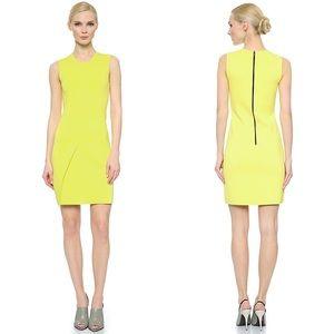 Narciso Rodriguez Neon Yellow Sleeveless Dress